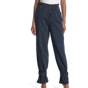 NWT weworewhat paper bag buckle jeans size 25